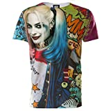 (スーサイド・スクワッド) Suicide Squad オフィシャル商品 メンズ ハーレイ・クイン グラフィティ 半袖 Tシャツ (XL) (マルチカラー)