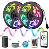 Aptech 10m LED Strip Lights, Smart WiFi RGB LED Lights with APP Remote Control, SMD 5050 LED Color Changing Rope Light, IP65