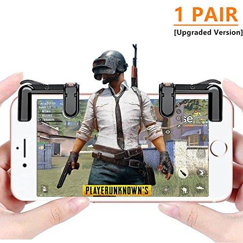 荒野行動モバイルゲームコントローラ, iPad Mobile Game Controller Pubg L1R1 ゲームパッド 高耐久ボタン 感応式射撃で 感度高く 高速射撃 簡単な操作