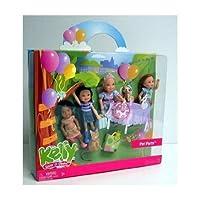 Barbie(バービー) Kelly Pet Party Doll Set with Kayla, Kenzi, Kelly, & Miranda ドール 人形 フィギュア(並行輸入)