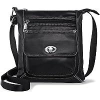 katloo Women Crossbody Purse Small Vegan Leather Shoulder Bag Cross Body Bags Soft Casual Travel Purses (Black)