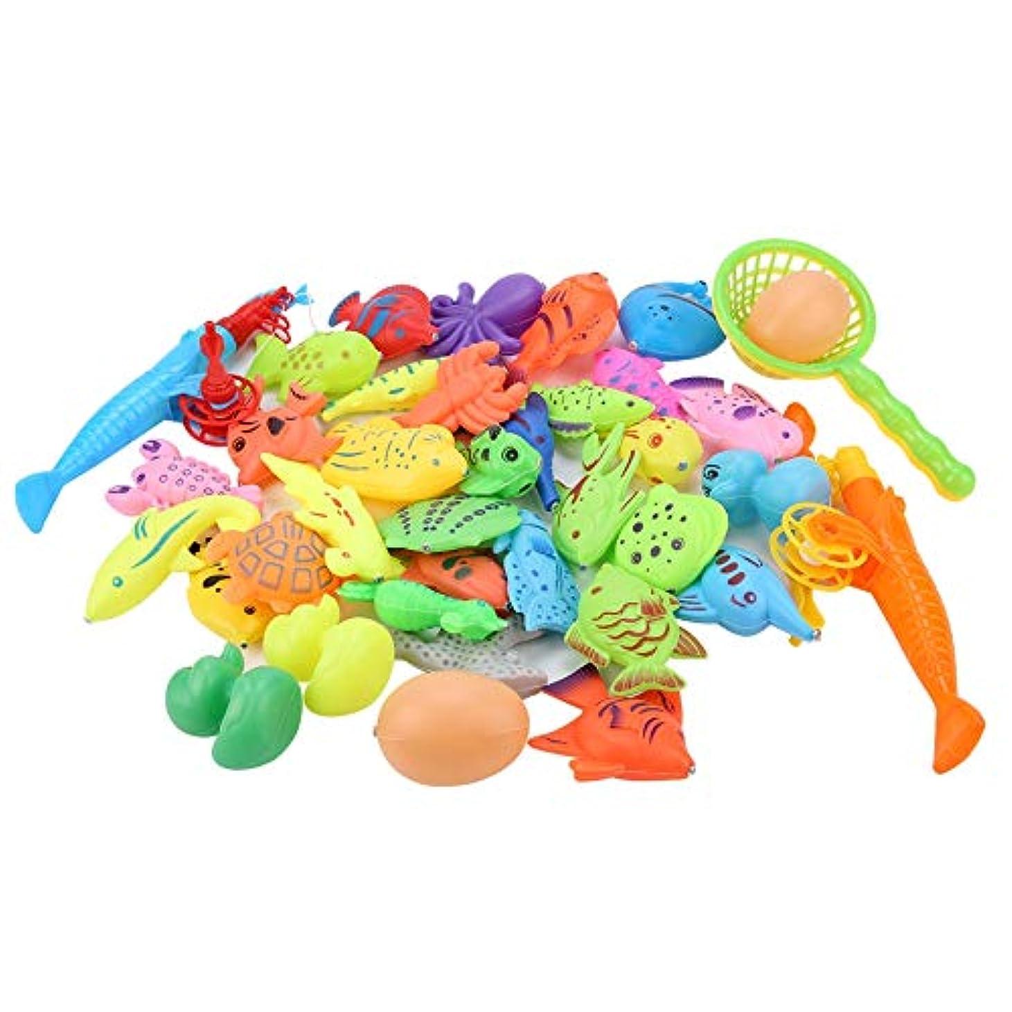 散文眠るり鮮やかな色の磁気赤ちゃん釣りおもちゃ、赤ちゃんのための魚のおもちゃ、3歳以上の赤ちゃんのためのあなたの小さな男の子と女の子