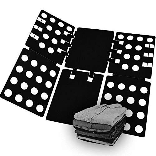 洋服 たたみ ボード 折りたたみ クイックプレス 収納力アップ 衣服折り畳み器 Tシャツ/Yシャツ/セーター/パンツ物 衣類 洗濯折たたみボード 衣類簡単 整理整頓 黒