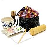 野点用 巾着入りお点前6点セット (安南茶碗) 茶道具