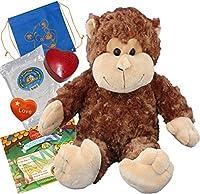"Mookie The Monkey (16"" Plush) w/Heart Shaped Voice Recorder (No-Sew DIY Build-a-Plush Kit)"