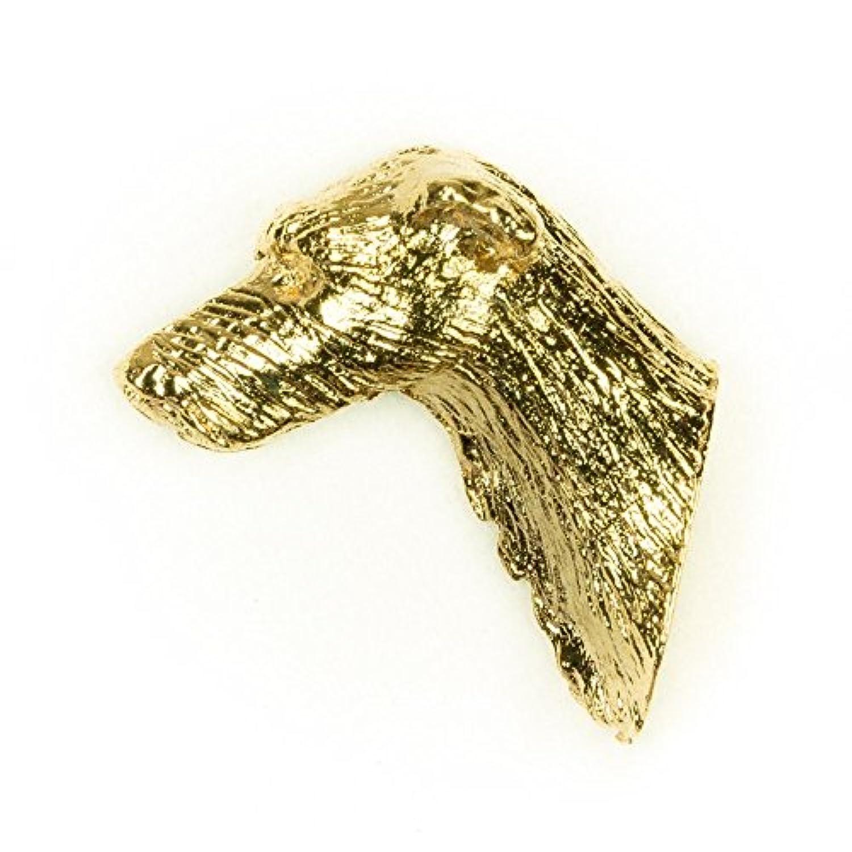 ラーチャー イギリス製 22ctゴールドプレート アート ドッグ ピンバッジ コレクション