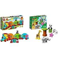 """レゴ(LEGO)デュプロ はじめてのデュプロ(R) """"かずあそびトレイン"""" 10847 & レゴ(LEGO) デュプロ 世界のどうぶつ どうぶつの赤ちゃん 10904 知育玩具 ブロック おもちゃ 女の子 男の子【セット買い】"""