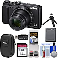 Nikon Coolpix a9004K Wi - Fiデジタルカメラ(ブラック)と32GBカード+バッテリー+ケース+グリップ+キット