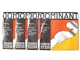 バイオリン弦 Thomastik Dominant/ドミナント弦 1/2サイズ用 EADG線  No.129 E線+No.131 A線+No.132 D線+No.133 G線 1/2セット E/A/D/G弦セット