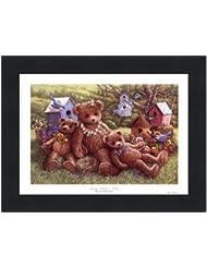 パンジー、デイジーとViola by Janet Kruskamp – 8 x 6インチ – アートプリントポスター LE_71350-F101-8x6