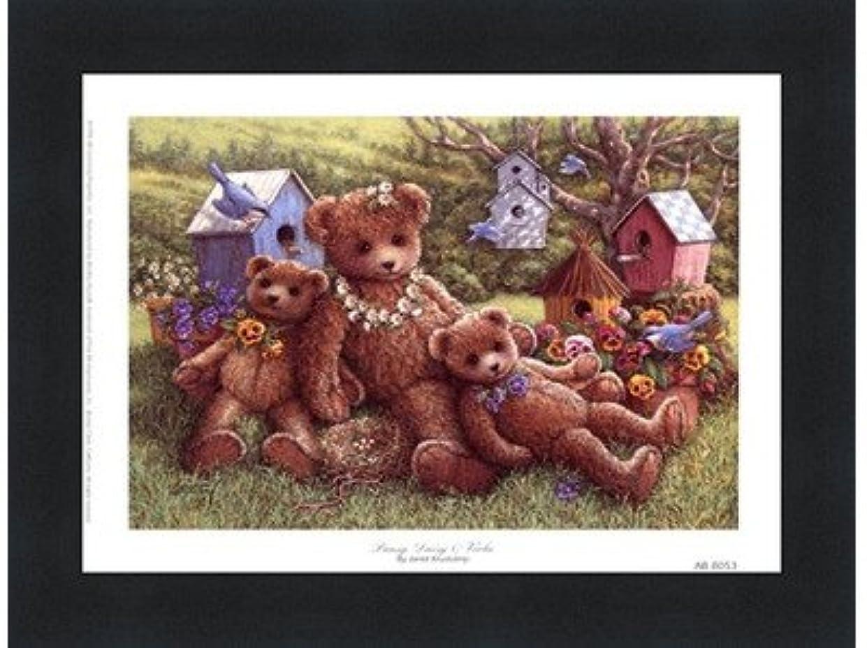 逮捕前文生じるパンジー、デイジーとViola by Janet Kruskamp – 8 x 6インチ – アートプリントポスター LE_71350-F101-8x6