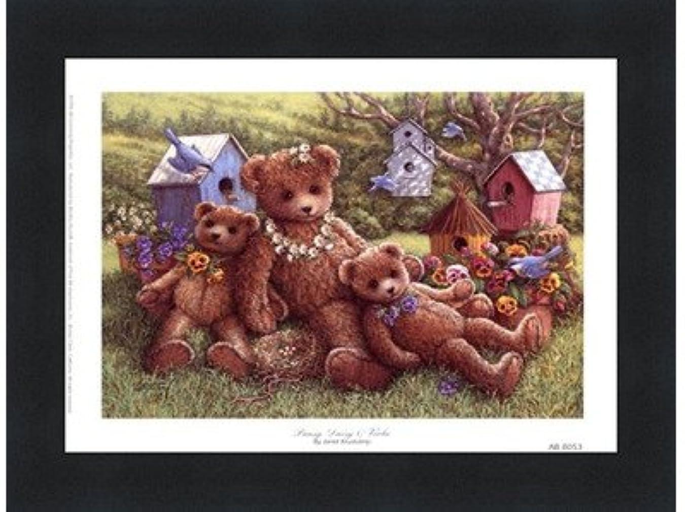 ブロック指エスカレートパンジー、デイジーとViola by Janet Kruskamp – 8 x 6インチ – アートプリントポスター LE_71350-F101-8x6