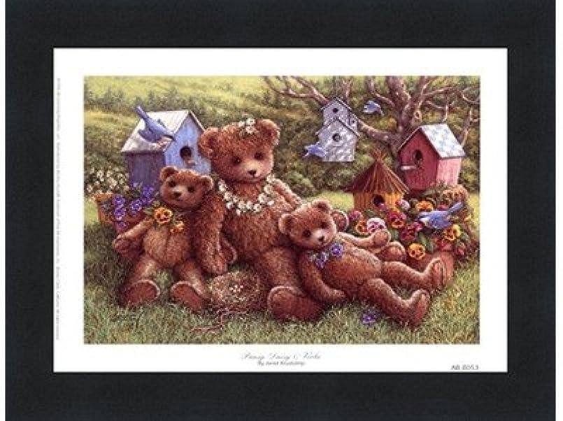 スリラー議論するパールパンジー、デイジーとViola by Janet Kruskamp – 8 x 6インチ – アートプリントポスター LE_71350-F101-8x6