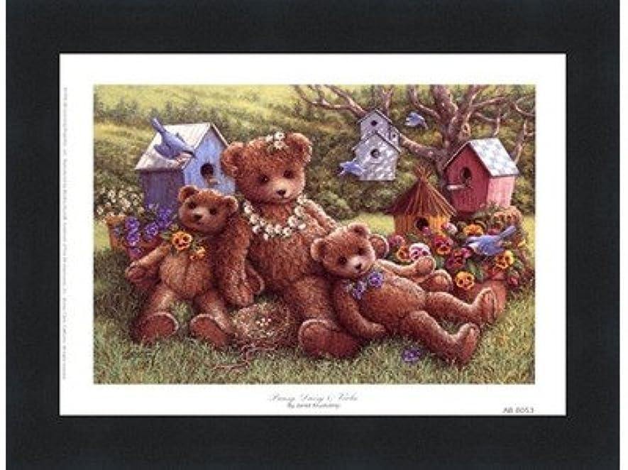 手を差し伸べるおじさん未接続パンジー、デイジーとViola by Janet Kruskamp – 8 x 6インチ – アートプリントポスター LE_71350-F101-8x6