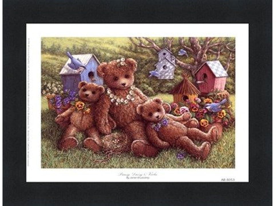 ロック解除分類離れてパンジー、デイジーとViola by Janet Kruskamp – 8 x 6インチ – アートプリントポスター LE_71350-F101-8x6