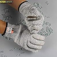 防刃手袋、耐久手袋保護手袋 - 高性能レベル5保護、食用グレード手持ち安全のためのキッチン手袋(M)