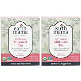 Organic Milkmaid Tea by Earth Mama | Supports Healthy Breastmilk Production and Lactation, Herbal Breastfeeding Tea Supplement, 16 Teabags per Box (2-Pack)