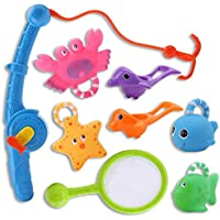 おもちゃ お風呂 シャワー プール 魚釣り 水遊び 子供 赤ちゃん 水鉄砲 動物 魚網 釣り竿 ネット じょうご 8点セット男の子 女の子 贈り物 誕生日プレゼント