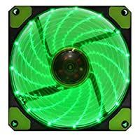 H_Nicholas Ultra Bright 120mm Acrylic Fan Dazzling Blue Green Red LED Computer Cooling Fan (Green)