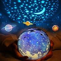 スタープロジェクター ライト, Yorze 星空ライト 家庭用 プラネタリウム ライト雰囲気を作り 星空投影 多色変更可能 360度回転 USB 電池 兼用 寝かしつけ用品 誕生日ギフト – 5 セット投影映画