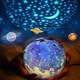 スタープロジェクター ライト, Yorze 星空ライト 家庭用 プラネタリウム ライト雰囲気を作り 星空投影 多色変更可能 360度回転 USB 電..