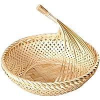IPOTCH 手作り 竹製 バスケット フルーツ 野菜 ディスプレイ トレイ 全3種       - #2, M