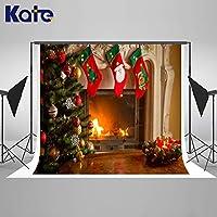 Kate クリスマス 屋内暖炉 写真撮影用背景 クリスマス 背景 写真スタジオブース ハッピーニューイヤー 写真装飾 小道具