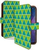 HUAWEI Mate10 Pro ケース 手帳型 三角 チェック 緑緑 シンプル お洒落 スマホケース ファーウェイ メタ10 プロ 手帳 カバー mate10pro メタ10proケース メタ10proカバー チェック柄 チェック模様 [三角 チェック 緑緑/t0611e]