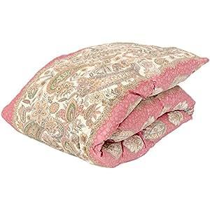 昭和西川 羽毛 肌掛け布団 シングル ピンク ホワイトダウン90% 日本製