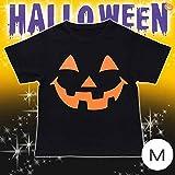 パンプキンブラックTシャツ M (トップス) ハロウィン コスプレ コスチューム