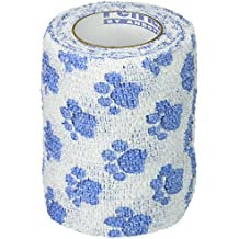 Classic Products Bandage Wrap White Paw Print 3 Inch x 5Yd