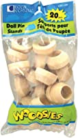 "Woodsies Doll Pin Stands-Natural 1.125""X.5"" 20/Pkg (並行輸入品)"