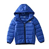 M2C 子供 ダウンコート 軽量 ライトダウン 男の子ジャケット 防寒 アウドドア 男女兼用 登山 通学(ブルー,110cm)
