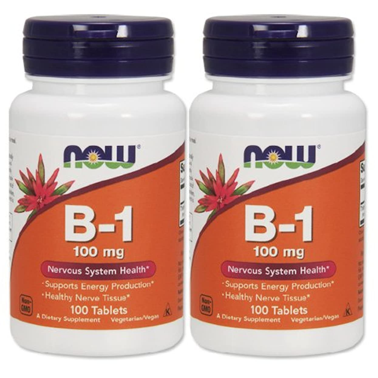 偉業九時四十五分作り上げる2本セット 海外直送品 Now Foods B-1, 100 Tabs 100 mg