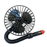 STARDUST 車載扇風機 フレキシブルアーム 簡単使用 角度調節 車中泊 4インチ SD-HY40K