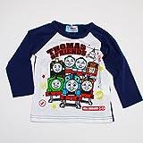 きかんしゃトーマス 長袖Tシャツ 100cm-120cm(643TM4011) (120cm, ネイビー)