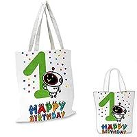 """1歳の誕生日 初めてのパーティーテーマ 風船 抽象画 ブルーとペールブルー 14""""x16""""-11"""""""