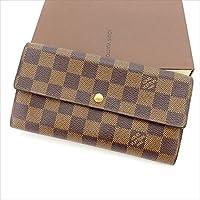 [ルイヴィトン] Louis Vuitton 二つ折り財布 ダミエ ポシェットポルトモネクレディ N61724 ダミエ 中古 Y3190