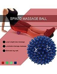 PVC高密度とがったマッサージボール足の痛み&足底筋膜炎緩和剤治療ハリネズミボールマッサージ指圧ボール