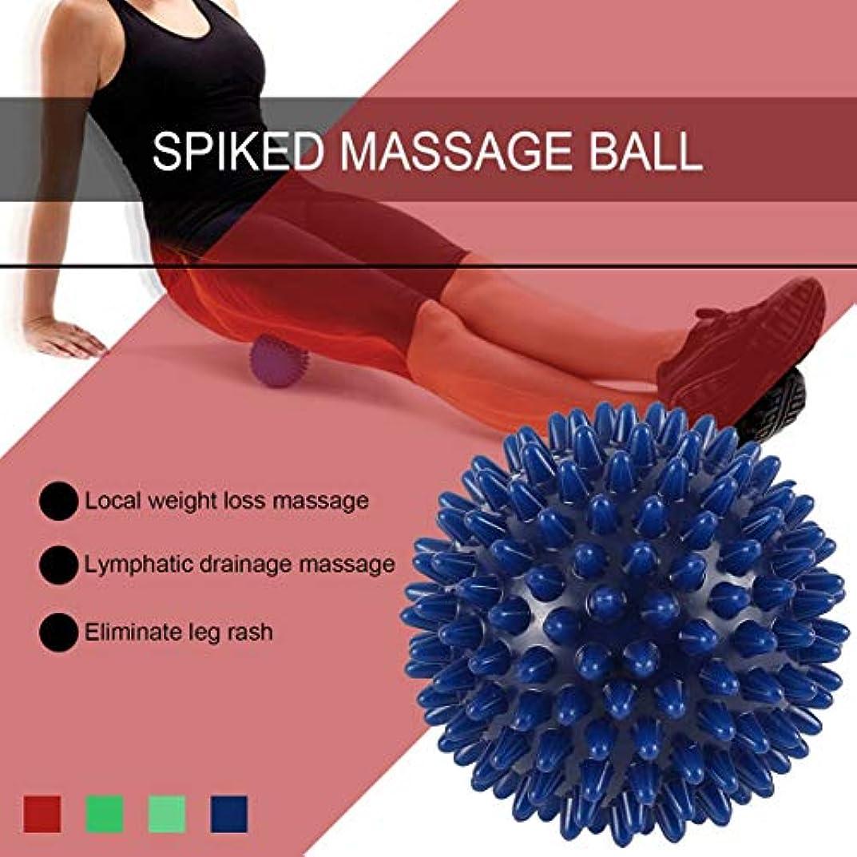 オフ士気研磨剤PVC高密度とがったマッサージボール足の痛み&足底筋膜炎緩和剤治療ハリネズミボールマッサージ指圧ボール