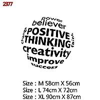 Mxl-Stickers 意欲を高める大規模オフィス引用フレーズビニールウォールステッカーデカールのためにリビングルームのベッドルーム教室事務所壁紙装飾 (色 : Style3, サイズ : Size XL)