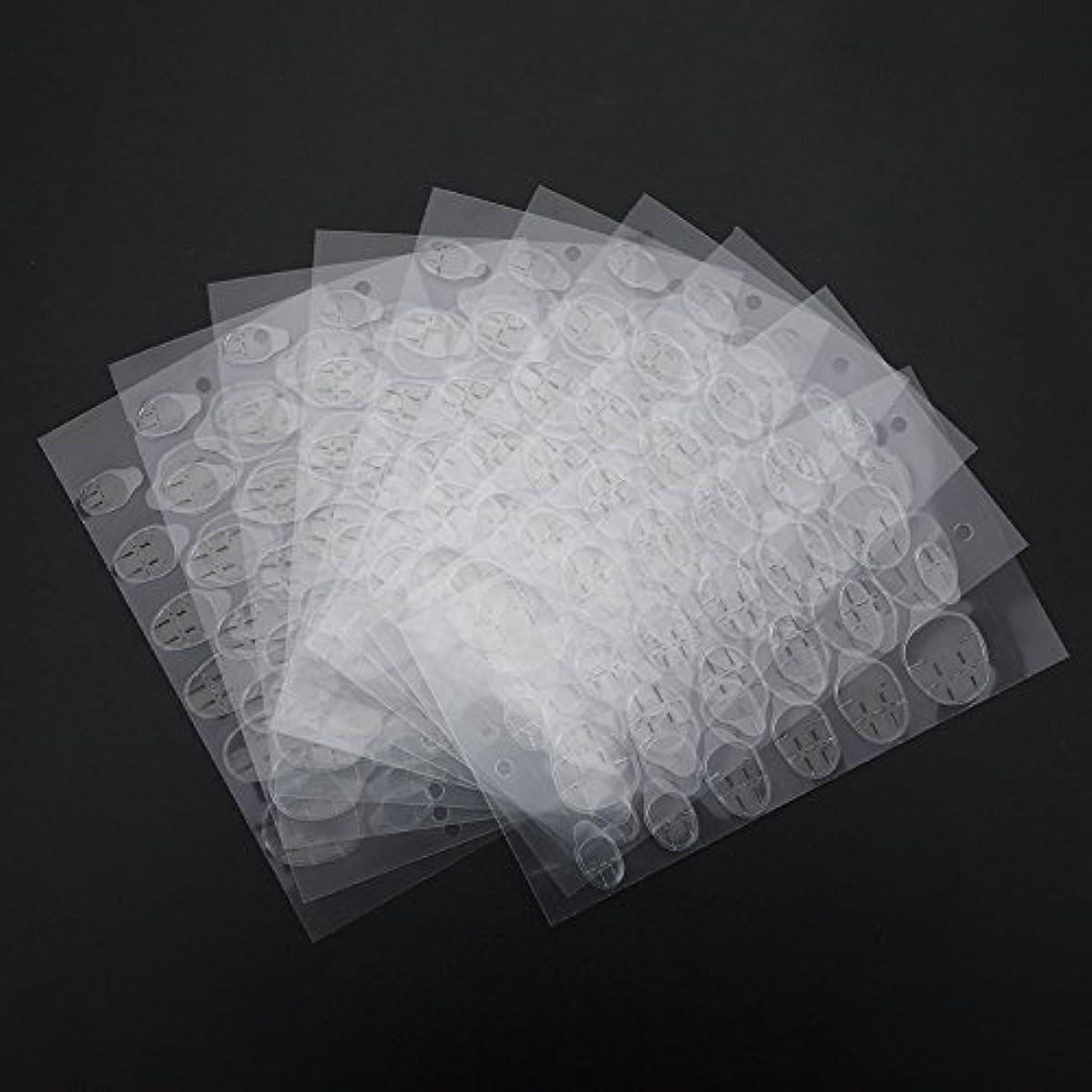 カブ優しさネイルステッカー、両面接着剤接着剤透明ネイルチップ用透明クリアステッカーテープマニキュアツール