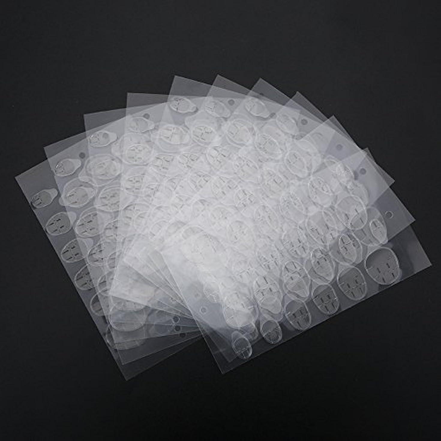 できる通訳薄暗い偽ネイルツール両面接着剤ステッカーテープ