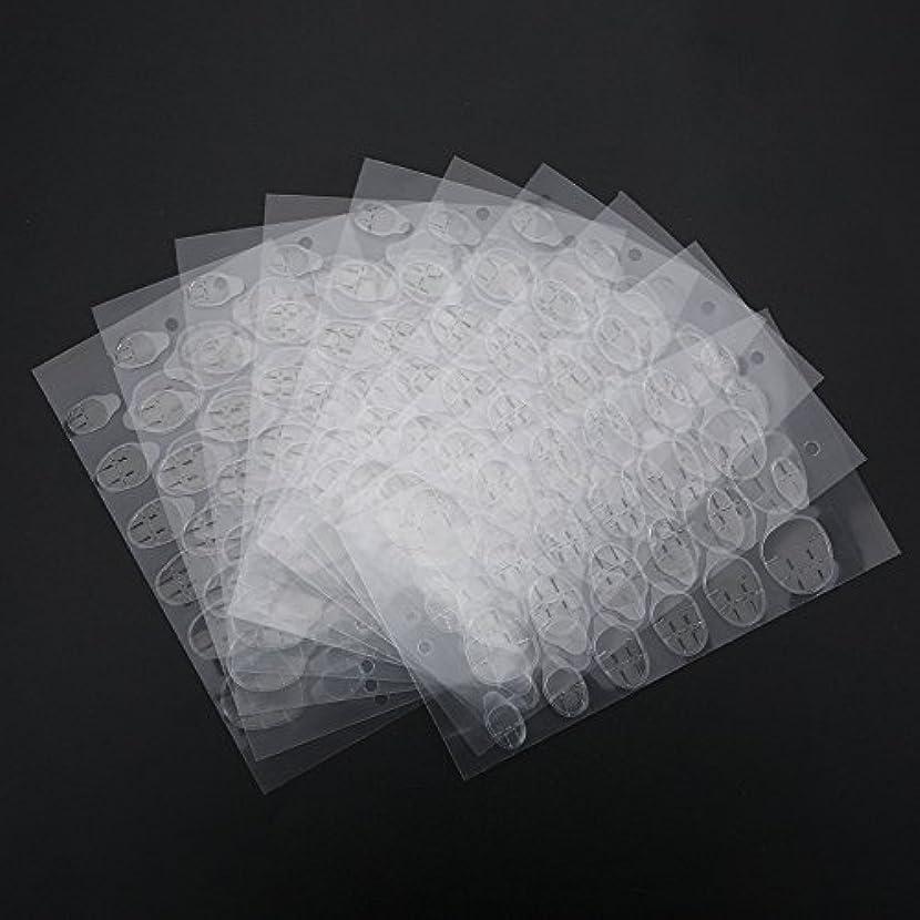 自伝マークされた促進するネイルステッカー、両面接着剤接着剤透明ネイルチップ用透明クリアステッカーテープマニキュアツール