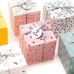 建縁工業 2枚セット ギフトボックス プレゼント お菓子 用 小 かわいい おしゃれ