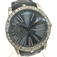 (ロジェ・デュブイ) ROGER DUBUIS RDDBEX0347 エクスカリバー42 金無垢 ダイヤベゼル メンズ腕時計 裏スケ 腕時計 K18WG/革ベルト メンズ 中古