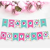 フラミンゴハッピーバースデーバナー – フラミンゴパーティー用品 パイナップルパーティーデコレーション パイナップルデコレーション パーティーフラミンゴパーティーフラミンゴデコレーションフラミンゴパーティーデコレーションフラミンゴパインゴの花嫁 パーティー用品 フラミンゴパインゴの誕生日パーティーサプライ