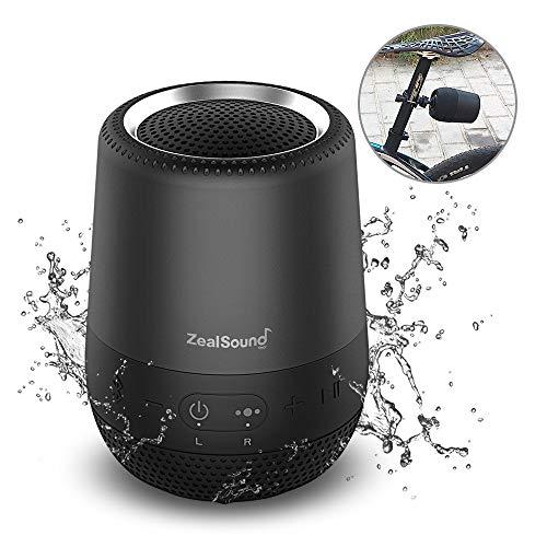 ZealSound TWS ポータブル スピーカー デュエット Bluetooth スピーカー ブルートゥース ワイヤレススピーカ 8W IPX6 防水 MINI Bluetooth speaker マイク内蔵 3D立体高音質 小型 ミニ ハンズフリー通話 3.5mmAUX入力 TFカード オーディオケーブル有線再生 13-15時間連続再生可能(黒)
