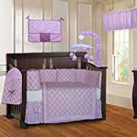 BabyFad Clover Pink 10 Piece Baby Crib Bedding Set [並行輸入品]
