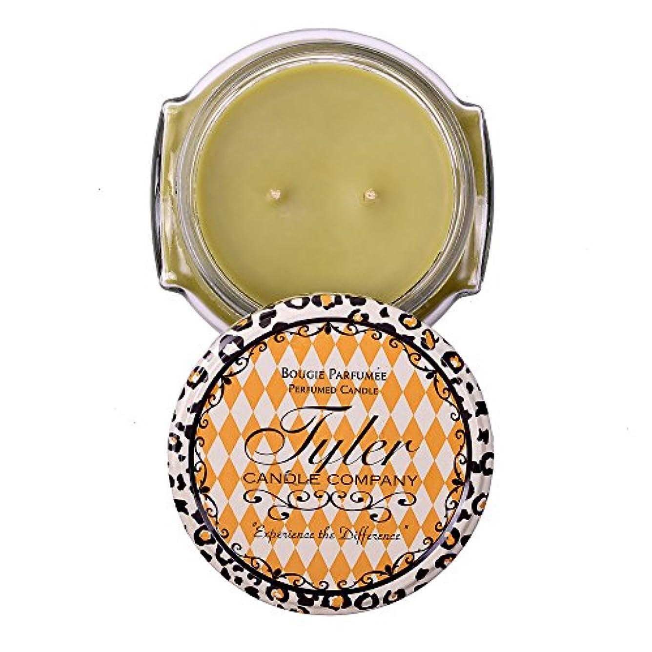 シダへこみゆりかごWhat a Pear Tyler 11 oz Medium香りつき2-wick Jar Candle